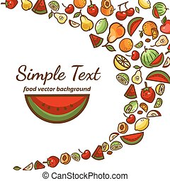 fruit pattern background