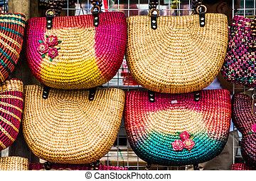 Colorfull handmade bags
