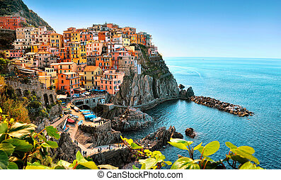 Colorfull Manarolla in Cinque Terre, Italy Europe