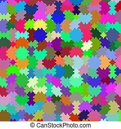 colorfull, pazzle, 背景