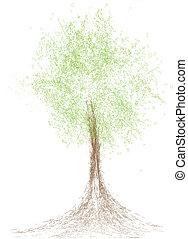 colorfull tree line