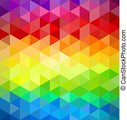 Colorfull vintage abstract geometric pattern. - Trendy...