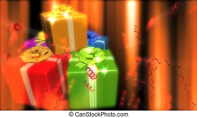 Colorfully Wrapped Presents
