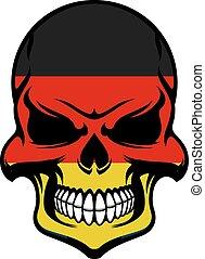 colori, bandiera germania, cranio, pericolo