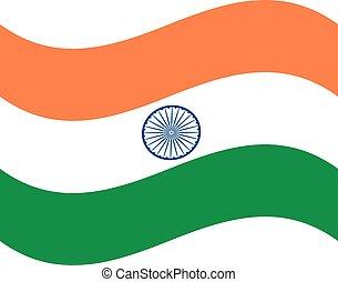 colori, bandiera, india, ufficiale