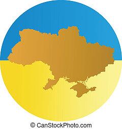 colori, di, ucraina