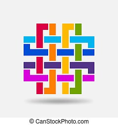 colori, nodo, solomon, simbolo arcobaleno