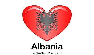 colori, ufficiale, bandiera, correctly., albania, proporzione, nazionale
