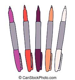 colori, vario, marcatori