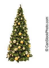 colorido, árbol, ornamentos de navidad