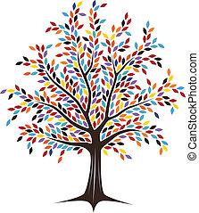 colorido, árvore