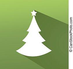 colorido, abstratos, árvore, ilustração, vetorial, fundo, natal