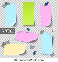 colorido, acessórios, vetorial, transparência, papeis, vazio