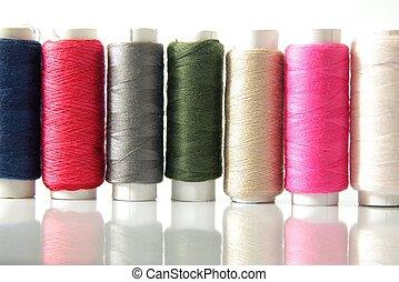 colorido, algodão