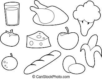 Imagenes Para Colorear De Alimentos Nutritivos Y No Nutritivos