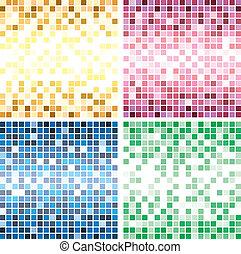 colorido, azulejo, fondos