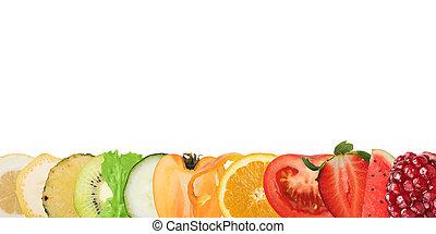 colorido, bandeira, de, frutas