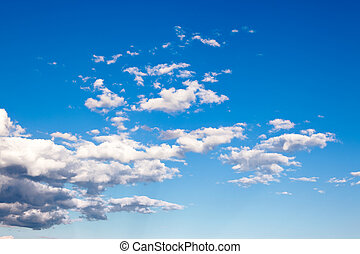 colorido, brillante azul, cielo, fondo.