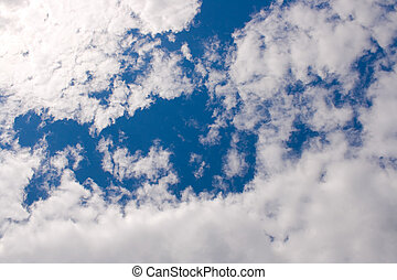 colorido, brillante azul, cielo, plano de fondo