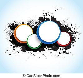 colorido, círculos