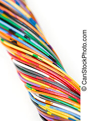 colorido, cable