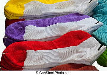 colorido, calcetines