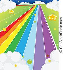 colorido, camino
