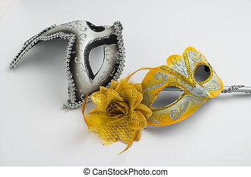 colorido, carnaval, máscaras