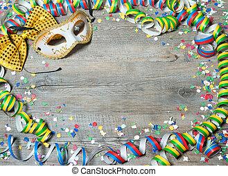 colorido, carnaval, plano de fondo