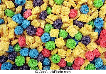 colorido, cereal