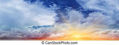 colorido, cielo, y, nubes
