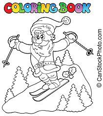 colorido, claus, topic, 3, libro, santa