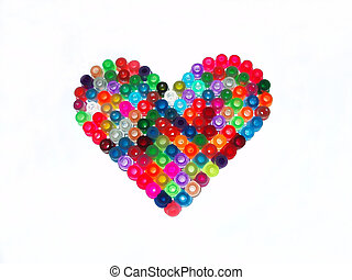 colorido, coração
