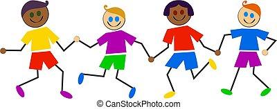 colorido, crianças