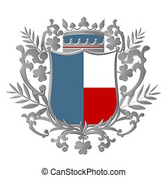 colorido, crista, emblema
