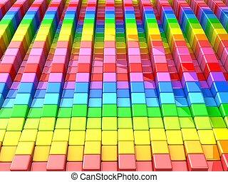 colorido, cubo, patrón, plano de fondo