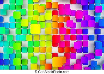 colorido, embaldosado, plano de fondo