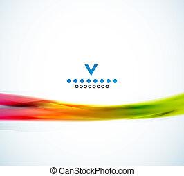 colorido, estrecho, onda, diseño abstracto, plantilla