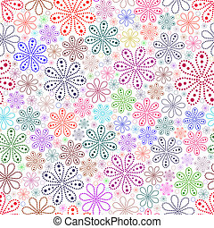 colorido, flor, blanco, fondo.