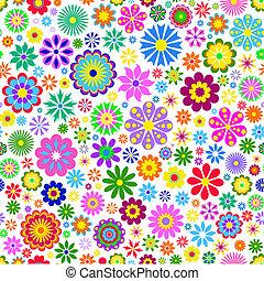 colorido, flor, blanco, plano de fondo