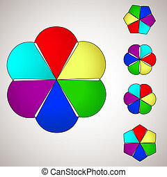 colorido, flor, fondo., vector