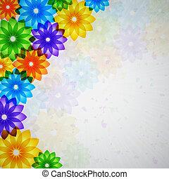 colorido, flor, plano de fondo