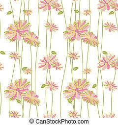 colorido, flor, seamless, patrón, plano de fondo
