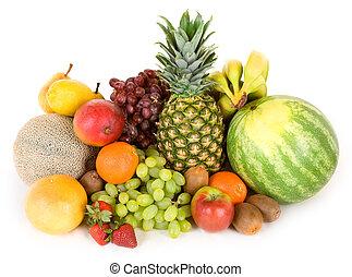 colorido, fruits