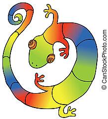 colorido, gecko