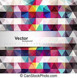 colorido, geometría, patrón, seamless, textura, vector, ...