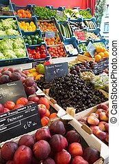 colorido, greengrocery
