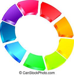 colorido, icono