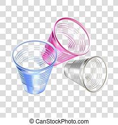 colorido, imagem, glasses., plástico, realístico, vetorial