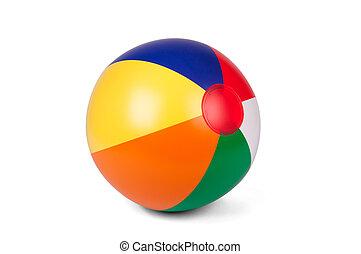 colorido, inflável, esfera praia